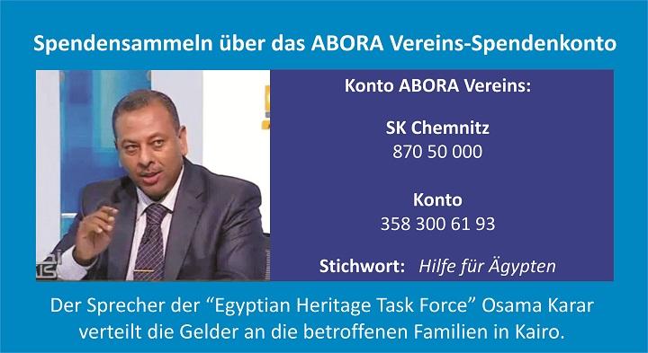 Der Geldfluss wird über das ABORA-Vereinskonto und von Osama Karar geregelt. (Bild: Atlantisforschung.de)