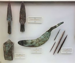Copper implements Late Archaic period, Wisconsin, 3000 BC-1000 BC - Wisconsin Historical Museum.JPG