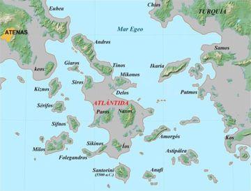 Kykladen Karte.Kykladen Inselgruppe Atlantisforschung De